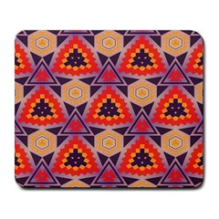 Triangles Honeycombs And Other Shapes Pattern			large Mousepad by LalyLauraFLM