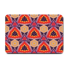 Triangles Honeycombs And Other Shapes Pattern			small Doormat by LalyLauraFLM