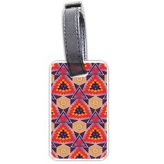 Triangles Honeycombs And Other Shapes Pattern			luggage Tag (one Side) by LalyLauraFLM