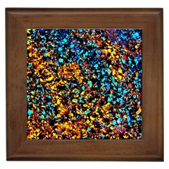 Colorful Seashell Beach Sand, Framed Tiles by Costasonlineshop