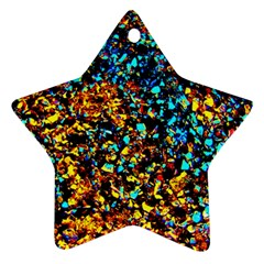 Colorful Seashell Beach Sand, Ornament (star)