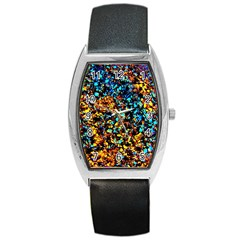 Colorful Seashell Beach Sand, Barrel Metal Watches by Costasonlineshop