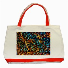 Colorful Seashell Beach Sand, Classic Tote Bag (red)