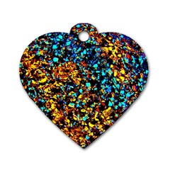 Colorful Seashell Beach Sand, Dog Tag Heart (two Sides) by Costasonlineshop