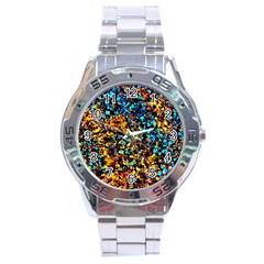 Colorful Seashell Beach Sand, Stainless Steel Men s Watch by Costasonlineshop