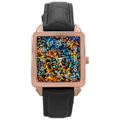 Colorful Seashell Beach Sand, Rose Gold Watches by Costasonlineshop