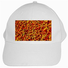 Orange Yellow  Saw Chips White Cap