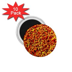 Orange Yellow  Saw Chips 1 75  Magnets (10 Pack)  by Costasonlineshop