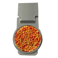 Orange Yellow  Saw Chips Money Clips (round)  by Costasonlineshop