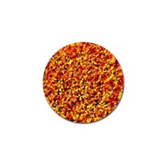 Orange Yellow  Saw Chips Golf Ball Marker (4 Pack)