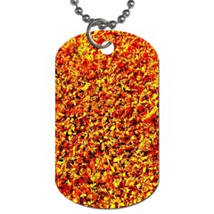Orange Yellow  Saw Chips Dog Tag (two Sides) by Costasonlineshop