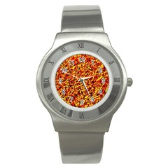 Orange Yellow  Saw Chips Stainless Steel Watches by Costasonlineshop