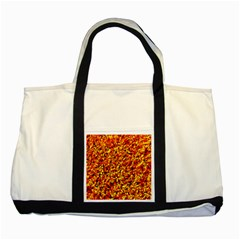 Orange Yellow  Saw Chips Two Tone Tote Bag  by Costasonlineshop