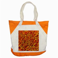 Orange Yellow  Saw Chips Accent Tote Bag  by Costasonlineshop