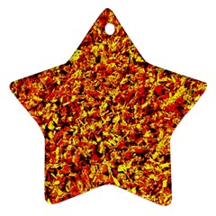 Orange Yellow  Saw Chips Star Ornament (two Sides)  by Costasonlineshop