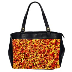 Orange Yellow  Saw Chips Office Handbags (2 Sides)  by Costasonlineshop
