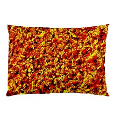 Orange Yellow  Saw Chips Pillow Cases (two Sides) by Costasonlineshop