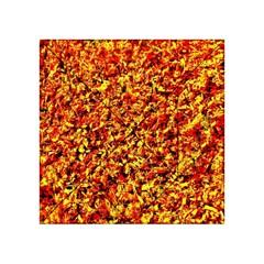 Orange Yellow  Saw Chips Acrylic Tangram Puzzle (4  x 4 ) by Costasonlineshop