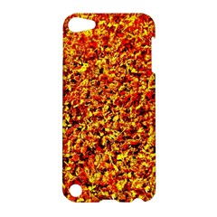 Orange Yellow  Saw Chips Apple Ipod Touch 5 Hardshell Case