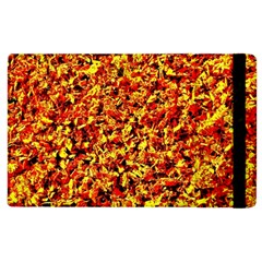 Orange Yellow  Saw Chips Apple Ipad 3/4 Flip Case by Costasonlineshop