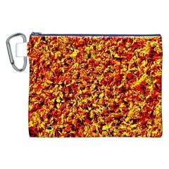 Orange Yellow  Saw Chips Canvas Cosmetic Bag (xxl)  by Costasonlineshop