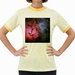 Trifid Nebula Women s Fitted Ringer T Shirts