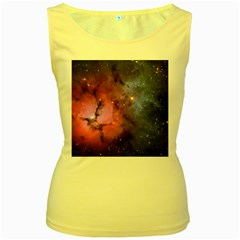 Trifid Nebula Women s Yellow Tank Tops