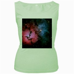 Trifid Nebula Women s Green Tank Tops