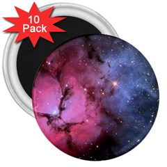Trifid Nebula 3  Magnets (10 Pack)