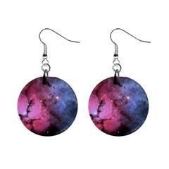 Trifid Nebula Mini Button Earrings