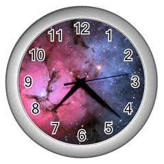 Trifid Nebula Wall Clocks (silver)