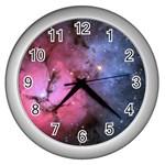 TRIFID NEBULA Wall Clocks (Silver)  Front