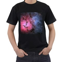 Trifid Nebula Men s T Shirt (black) (two Sided)