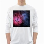 TRIFID NEBULA White Long Sleeve T-Shirts Front