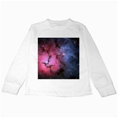 Trifid Nebula Kids Long Sleeve T Shirts