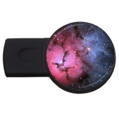 Trifid Nebula Usb Flash Drive Round (4 Gb)  by trendistuff