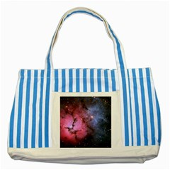 Trifid Nebula Striped Blue Tote Bag