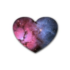 Trifid Nebula Heart Coaster (4 Pack)  by trendistuff