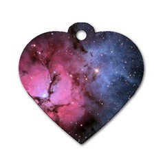 Trifid Nebula Dog Tag Heart (two Sides)
