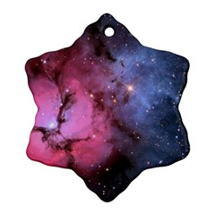 Trifid Nebula Snowflake Ornament (2 Side)