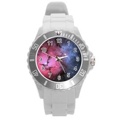 Trifid Nebula Round Plastic Sport Watch (l)
