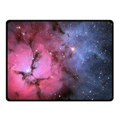 Trifid Nebula Double Sided Fleece Blanket (small)