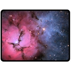 Trifid Nebula Double Sided Fleece Blanket (large)