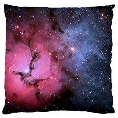Trifid Nebula Large Flano Cushion Cases (one Side)