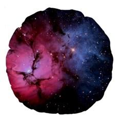 Trifid Nebula Large 18  Premium Flano Round Cushions