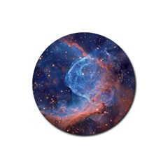 Thor s Helmet Rubber Round Coaster (4 Pack)