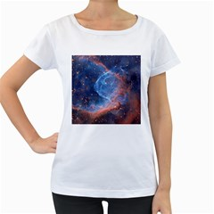 Thor s Helmet Women s Loose Fit T Shirt (white)