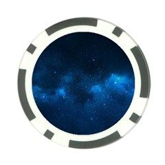 Starry Space Poker Chip Card Guards by trendistuff