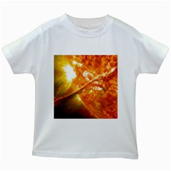 Solar Flare 2 Kids White T Shirts by trendistuff