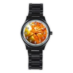 Solar Flare 2 Stainless Steel Round Watches by trendistuff